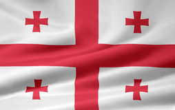 Flag of Georgia Royalty Free Stock Photo