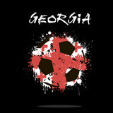 Flag of Georgia as an abstract soccer ball Royalty Free Stock Photography