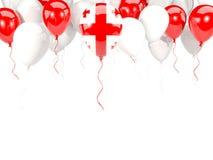 Flag of georgia on balloons Royalty Free Stock Photo