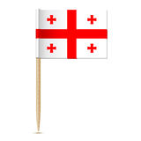 Flag of Georgia country. Flag toothpick 10eps Royalty Free Stock Images
