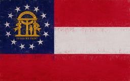Flag of Georgia Grunge Royalty Free Stock Photo