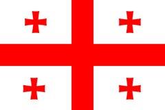 Flag of Georgia. Sovereign state flag of country of Georgia Stock Photos