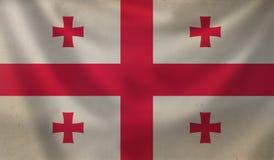 Flag of Georgia. Stock Photos