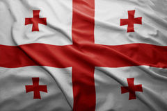 Flag of Georgia Royalty Free Stock Photography