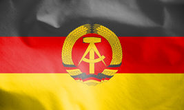 Flag of German Democratic Republic. Stock Photo