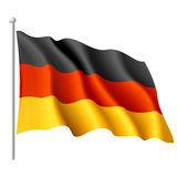 Flag of Germany. Vector illustration of a flying flag of Germany stock illustration