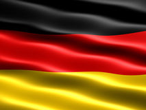 Flag of Germany. With silky appearance and waves vector illustration