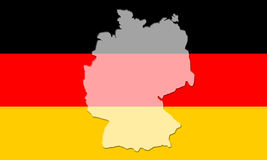 Flag of Germany. German National Colours, Black Red Gold Tricolour Stock Photos