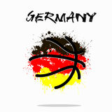 Flag of Germany as an abstract basketball ball. Abstract basketball ball painted in the colors of the Germany flag. Vector illustration stock illustration