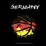 Flag of Germany as an abstract basketball ball. Abstract basketball ball painted in the colors of the Germany flag. Vector illustration Stock Images