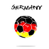 Flag of Germany as an abstract soccer ball. Abstract soccer ball painted in the colors of the Germany flag. Vector illustration stock illustration