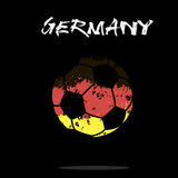 Flag of Germany as an abstract soccer ball Stock Photos
