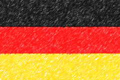 Flag of Germany background o texture, color pencil effect. Stock Images