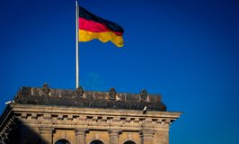 Flag of Germany in Berlin Royalty Free Stock Images