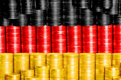 Flag germany. Build with coins Royalty Free Stock Photo