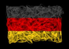 Smoky flag of Germany Stock Photography