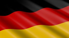 Flag of Germany - seamless loop. Flag of Germany, digital animation - great for topics like national symbols etc