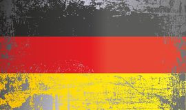 Flag of Germany, Federal Republic of Germany, Wrinkled dirty spots. royalty free stock images