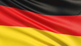 The flag of Germany or German Flag vector illustration