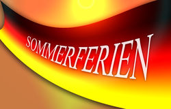 Flag of Germany with german word, concept summer holidays Royalty Free Stock Photography