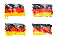 Flag of Germany, hand drawn watercolor illustration. Royalty Free Stock Photography