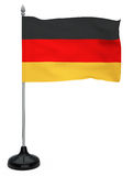 Flag of Germany with flagpole Stock Image