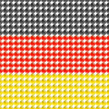 Flag of the Germany made of leds. Royalty Free Stock Photo