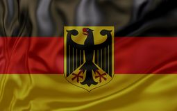 Flag of Germany. Nationals flags of world country turning royalty free stock images