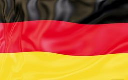 Flag of Germany. Nationals flags of world country turning royalty free stock photography