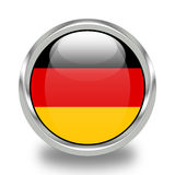 Flag of Germany. Nice Push-button with the fFlag of Germany Royalty Free Stock Photos