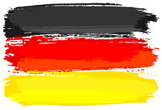 Flag of Germany painted with brush strokes Royalty Free Stock Photos