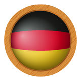 Flag of Germany in round icon Royalty Free Stock Photos