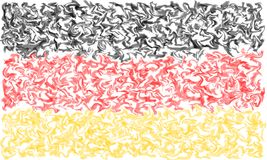 Flag of Germany - Smeared Burning Colors Design. German Flag in Burning Smeared Colors stock illustration