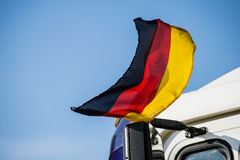 Flag of Germany at a truck Stock Photos