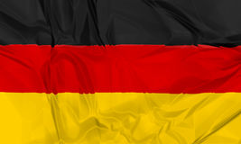 Flag of Germany waving Royalty Free Stock Image