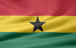 Flag of Ghana Stock Image