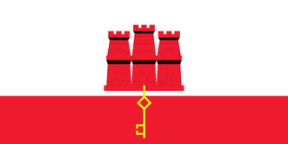 Flag of Gibraltar Stock Images