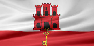 Flag of Gibraltar Royalty Free Stock Image