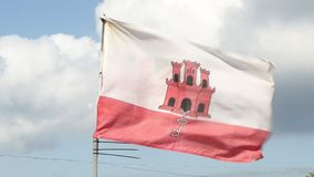The Flag of Gibraltar stock video footage