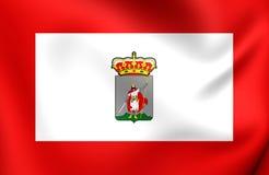 Flag of Gijon City, Spain. Stock Photos