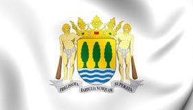 Flag of Gipuzkoa Province, Spain. 3D Flag of Gipuzkoa Province, Spain. Close Up Stock Image
