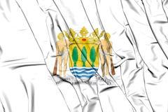 Flag of Gipuzkoa Province, Spain. 3D Illustration. 3D Flag of Gipuzkoa Province, Spain. 3D Illustration Royalty Free Stock Image