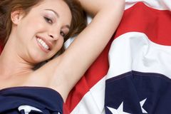 Flag Girl Stock Photos