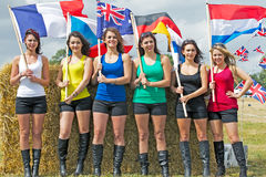 Flag girls Royalty Free Stock Image
