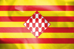 Flag of Girona Province, Spain. Stock Photography