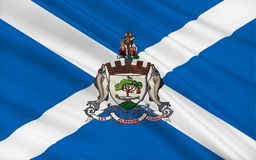 Flag of Glasgow is the largest city in Scotland. And the third largest in the United Kingdom stock photo