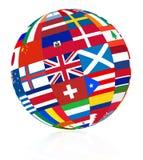 Flag globe Royalty Free Stock Photos