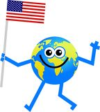 Flag globe Stock Image