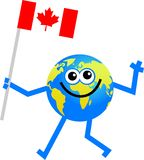 Flag globe vector illustration