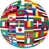 Flag globe Stock Images